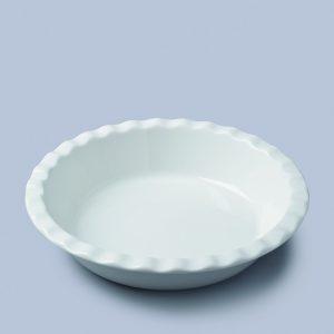 Crinkle Pie Dish Round Deep (27cm)