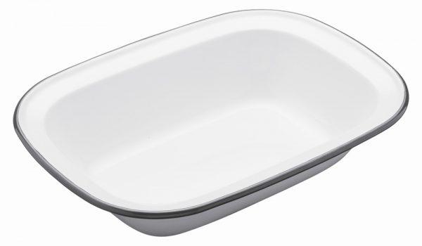 Enamel Oblong 26cm Pie Dish