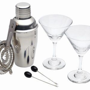BarCraft 6 Piece Mini Martini Cocktail Set