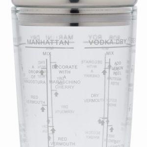 BarCraft 700ml Glass Boston Cocktail Shaker