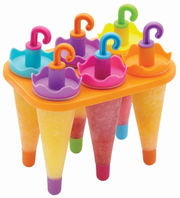 Set of 6 Umbrella Lolly Makers With Stand