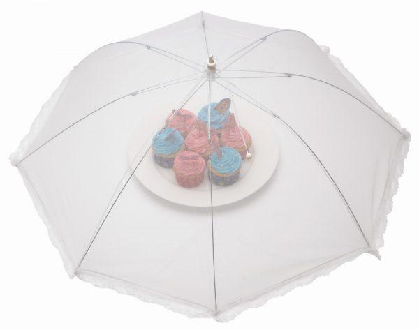 76cm White Umbrella Food Cover