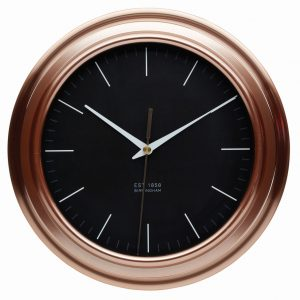 Copper Effect Clock