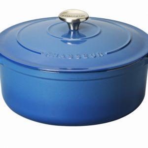 Chasseur Round Casserole 24cm/3.8L - Provence Blue