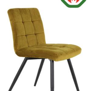 ochre velvet dining chair
