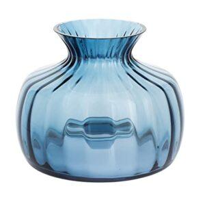 dartington cushion vase, medium, blue
